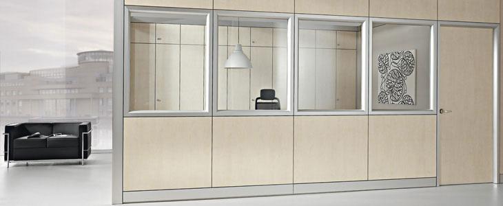 pareti divisorie ufficio: cartongesso, legno, vetro
