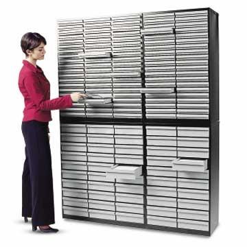 archivi ufficio: cassettiere, chiusura a chiave, metallo